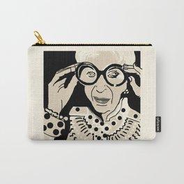 Iris Apfel cartoon portrait Carry-All Pouch
