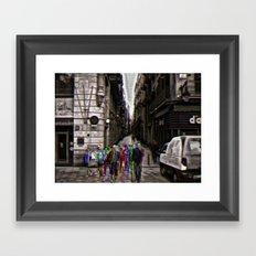 Sunday 4 November 2012: when steps coincide, decide Framed Art Print