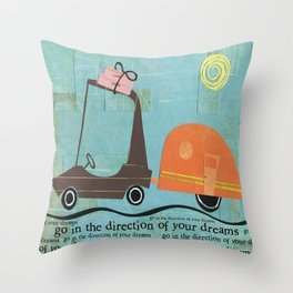 Direction of Your Dreams Throw Pillow