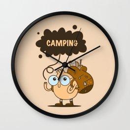 Camping Guy Wall Clock