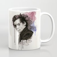 harry styles Mugs featuring Harry Styles by bellavigg