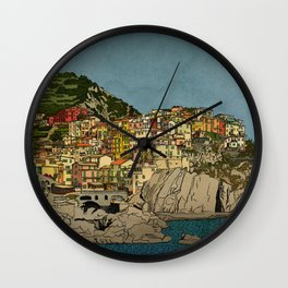 Of Houses and Hills Wall Clock