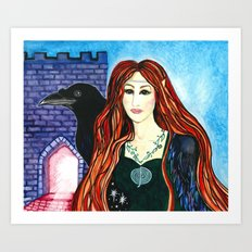 Faerie Crow Art Print