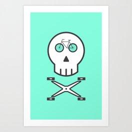 Rider Skull Art Print