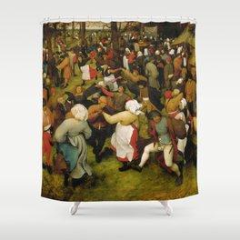 "Pieter Bruegel (also Brueghel or Breughel) the Elder ""Wedding Dance in the Open Air"" Shower Curtain"