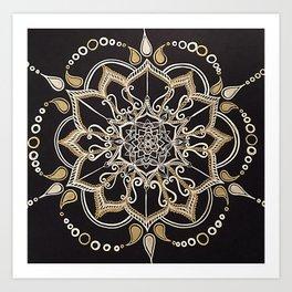 Silver & Gold Art Print