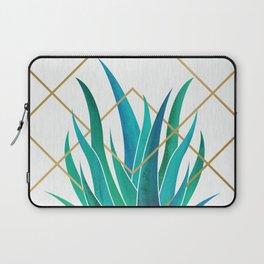 Modern Succulent - metallic accents Laptop Sleeve