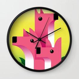 Foxes?...Meerkats?... Wall Clock
