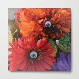 Garden of Oculary Eye Flowers Metal Print