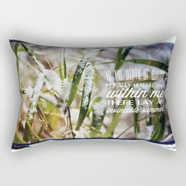 Invincible Summer. Rectangular Pillow