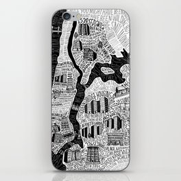 Hip-Hop Map of New York iPhone Skin