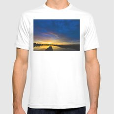 Sunset Blues Mens Fitted Tee MEDIUM White