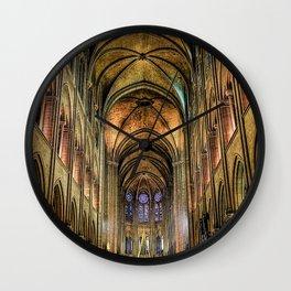 Notre Dame de Paris interior Wall Clock