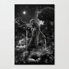 XVII. The Star Tarot Card Illustration Canvas Print