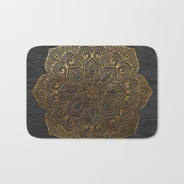 Wood Mandala - Gold Bath Mat