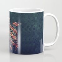 tortoise Mugs featuring The Pattern Tortoise by VessDSign