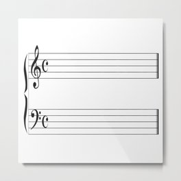 Blank Music Stave Metal Print