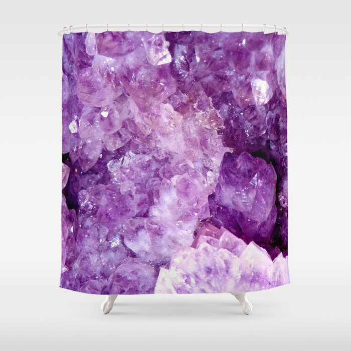 Purple Gems Shower Curtain