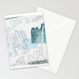 slow to warm Stationery Cards