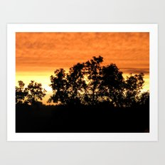 sunset // iowa Art Print