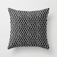 Net Black Throw Pillow