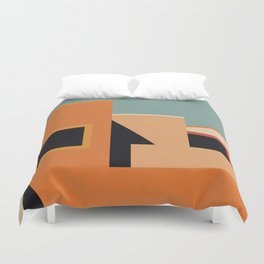 Summer Urban Landscape Duvet Cover
