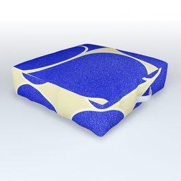 Blue mid-century shapes no8 Outdoor Floor Cushion