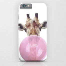 Bubble Gum - Giraffe iPhone Case