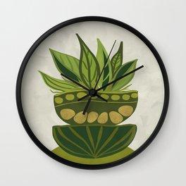 Still life Green plants Wall Clock