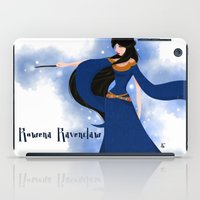 ravenclaw iPad Cases featuring Rowena Ravenclaw by Hailey Del Rio