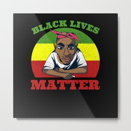 Black Lives Matter Afroamerican Metal Print