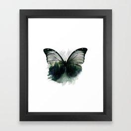 Double Butterfly Framed Art Print