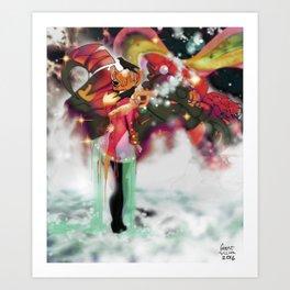 Machine and Me [Digital Figure Illustration] Art Print