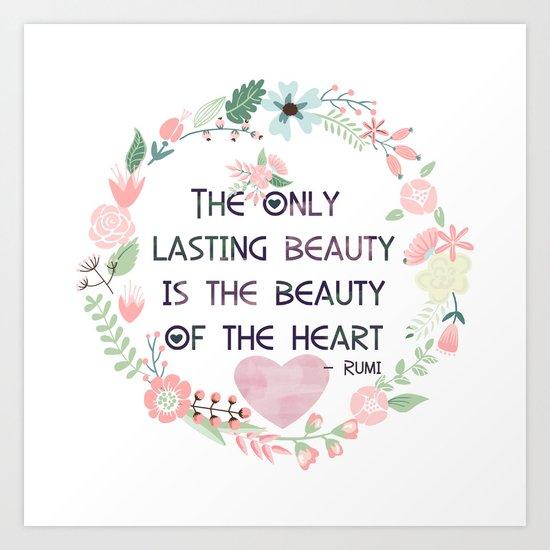 Beauty of the Heart Art Print