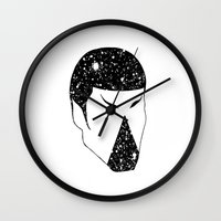 spock Wall Clocks featuring Spock by Carlo Vargas