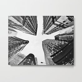 Subtle City Metal Print