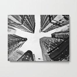 Subtle City Metal Print