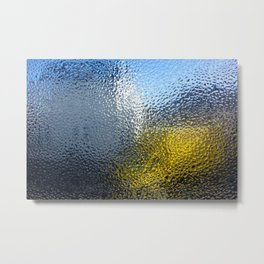 Condensation 03 - White House and Yellow Lorry Metal Print
