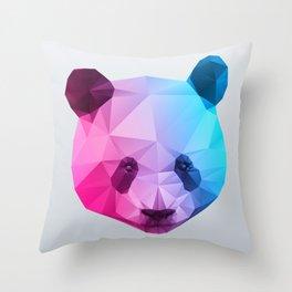 Polygon Panda Bear Throw Pillow