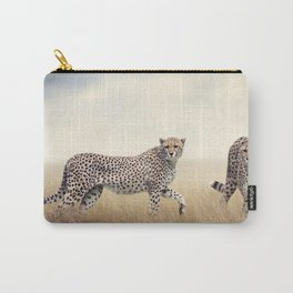 Two Phenomenal Spectacular Desert Beasts Walking In Savannah UHD Carry-All Pouch