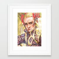 thranduil Framed Art Prints featuring Thranduil by Giulia Colombo