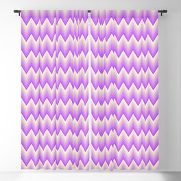 Simple chevron pattern shaded from vivid magenta to pale yellow Blackout Curtain