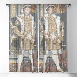 Henry VIII portrait Sheer Curtain