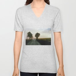 Drive into the Mist Unisex V-Neck