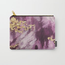 Pink, Purple and Gold Abstract Glam Carry-All Pouch