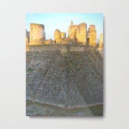 Castle Ruins, Castle Moat Restoration, Chateau De Fere, France Metal Print
