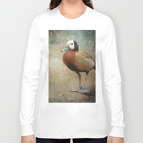 The Duck that found a feather.... Long Sleeve T-shirt