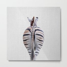 Zebra Tail - Colorful Metal Print