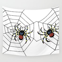 two big Spider Halloween web Wall Tapestry