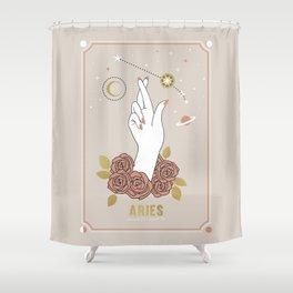 Aries Zodiac Series Shower Curtain
